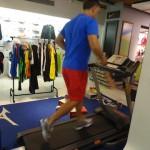 Testando os tênis apropriados