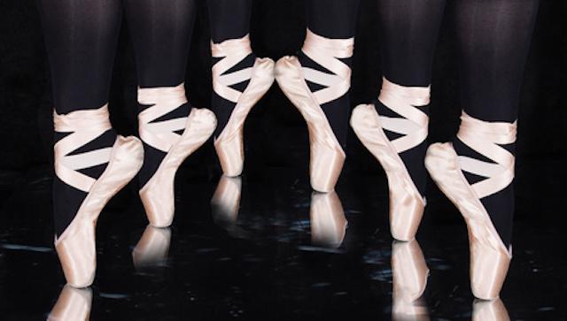 Ballerina -Tnzerin  - Beine mit Spitzenschuhe