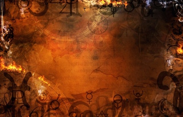 mysterious spells background