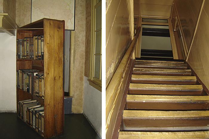 Acesso ao esconderijo da casa de Anne Frank | Foto por Zizo Asnis